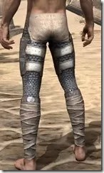 Daggerfall Covenant Iron Greaves - Male Rear