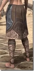 Dark Brotherhood Iron Greaves - Female Rear
