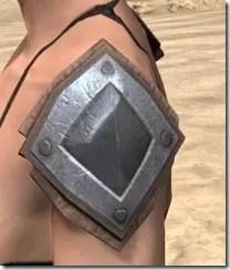 Dark Brotherhood Iron Pauldron - Female Side
