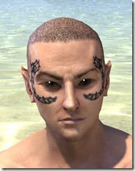 Dragonbone Chain Face Marking - Male Front