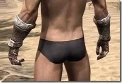 Draugr Iron Gauntlets - Male Rear