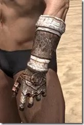 Draugr Iron Gauntlets - Male Side