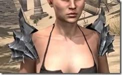 Ebonheart Pact Homespun Epaulets - Female Front
