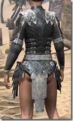 Ebony Iron Cuirass - Female Rear