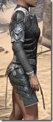 Ebony Iron Cuirass - Female Right