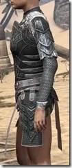 Ebony Iron Cuirass - Female Side