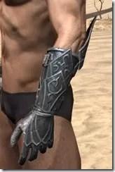 Ebony Iron Gauntlets - Male Side