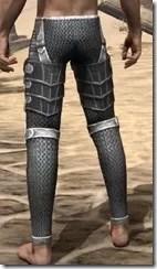 Ebony Iron Greaves - Male Rear