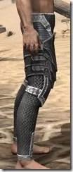 Ebony Iron Greaves - Male Right
