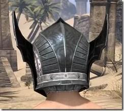 Ebony Iron Helm - Male Rear