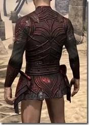 Ebony (Old) Heavy Cuirass - Male Rear