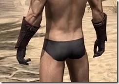 Ebony (Old) Heavy Gauntlets - Male Rear