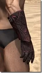 Ebony (Old) Heavy Gauntlets - Male Right