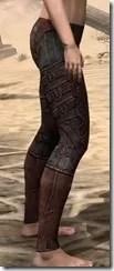 Ebony (Old) Heavy Greaves - Female Right