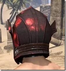 Ebony (Old) Heavy Helm - Male Rear