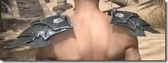Ebony Rawhide Arm Cops - Male Rear