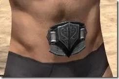 Ebony Rawhide Belt - Male Front