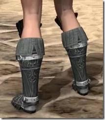 Ebony Rawhide Boots - Female Rear