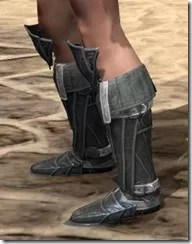 Ebony Rawhide Boots - Female Side