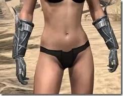 Ebony Rawhide Bracers - Female Front