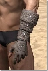Minotaur Rawhide Bracers - Male Side