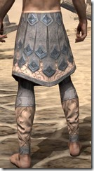 Order of the Hour Iron Greaves - Male Rear