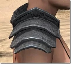 Order of the Hour Iron Pauldron - Female Right