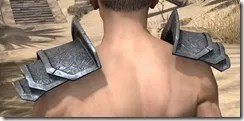 Order of the Hour Iron Pauldron - Male Rear