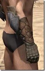 Outlaw Rawhide Bracers  - Male Right