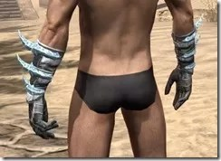 Stahlrim Frostcaster Iron Gauntlets - Male Rear