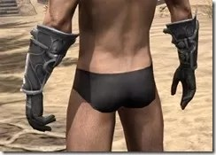 Thieves Guild Iron Gauntlets - Male Rear