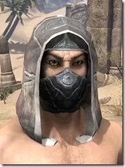 Thieves Guild Iron Helm - Male Front