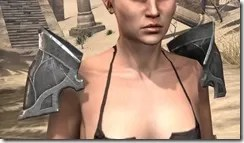 Thieves Guild Iron Pauldron - Female Front
