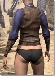 Vested Shirt and Cuffs - Female Rear