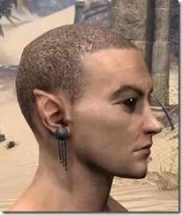 Dangling Triple-Chain Earrings Male Side