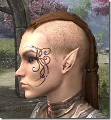 Eye-Briar Gemmed Tattoo Female Side
