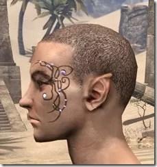 Eye-Briar Gemmed Tattoo Male Side