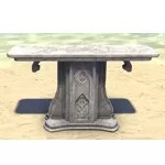 Alinor Table, Decorative Marble