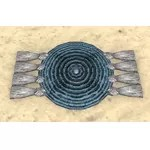 Alinor Table Runner, Coiled