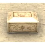 Scrimshaw Jewelry Box, Floral