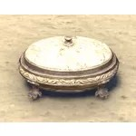 Scrimshaw Jewelry Box, Verdant Oval