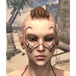 Scrying Eye Psijic Face Tattoo