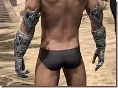 Dremora Iron Gauntlets - Male Rear