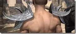 Dremora Iron Pauldrons - Male Rear