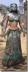 Fanged Worm Light - Female Robe Front