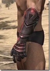 Silver Dawn Heavy Gauntlets - Male Side