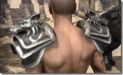 Vykosa Pauldrons - Male Rear