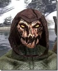 Pumpkin Spectre Mask - Argonian Front