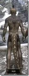 Sable Man-Beast - Argonian Rear