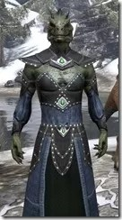 Ancestral Homage Formal Gown - Argonian Male Close Front